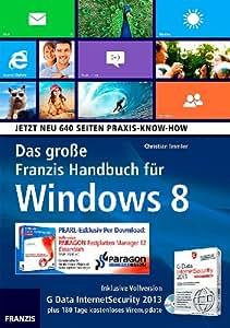 FRANZIS Das große Franzis Handbuch für Windows 8 inkl. PARAGON-Software