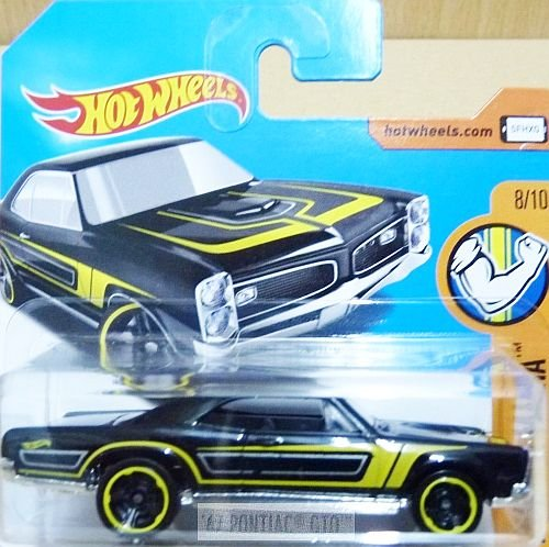 HOT WHEELS® Pontiac GTO - Oldtimer 1967 - 1:64 - schwarz/gelb (Wheels Gto Hot)
