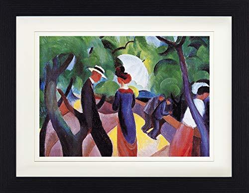 1art1 114210 August Macke - Promenade, 1913 Gerahmtes Poster Für Fans Und Sammler 40 x 30 cm