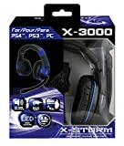 Subsonic - X-3000 Cascos estéreo gaming para PS4, PS3 y PC. X-STORM universal gaming headset X-3000
