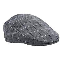 Erkek Kasket Şapka İngiliz Yazlık Spor Şapka - Gri