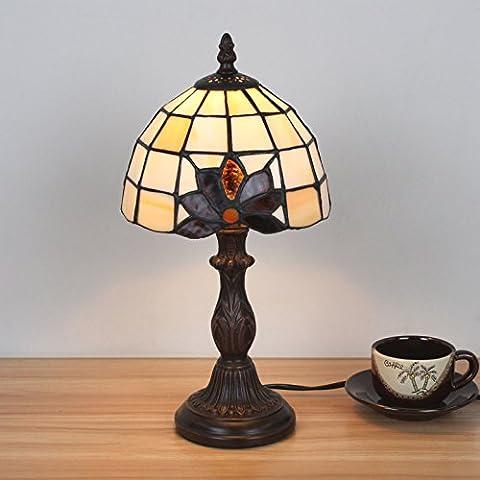 7 pouces mini petite charmante simple Tiffany Style lampe de table Lampe de chevet Lampe de bureau Lampe de salon Bar