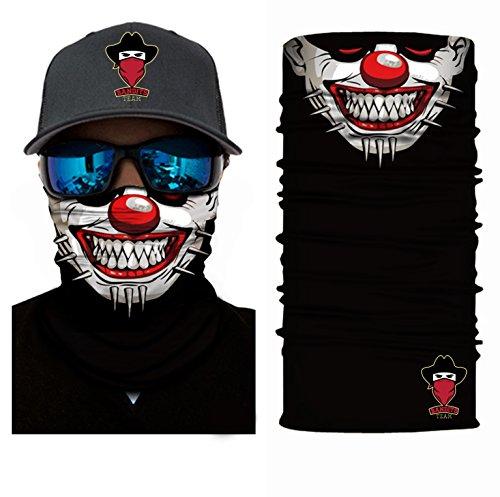 [ 44 Designs ] Bedrucktes Multifunktionstuch Bandana Halstuch Kopftuch: Face Shield aus Mikrofaser - Material ist flexibel und atmungsaktiv - Maske fürs Motorrad-, Fahrrad- und Skifahren (Motorrad Kinder Reiten)