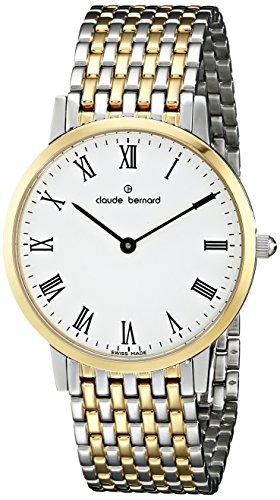 Claude Bernard Men's 20061 357JM BR Classic Gents - Slim Line Analog Display Swiss Quartz Two Tone Watch