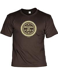 T-Shirt mit Urkunde - Original seit 1974 - lustiges Sprüche Shirt als Geschenk zum 43. Geburtstag - NEU mit gratis Zertifikat!