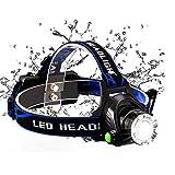 LED-Scheinwerfer-Scheinwerfer - USB-wiederaufladbarer Scheinwerfer 3 benutzerfreundliche Betriebsmodi, wasserdichter verstellbarer Winkel für Camping, Laufen,Klettern,Wandern,Outdoor-Aktivitäten
