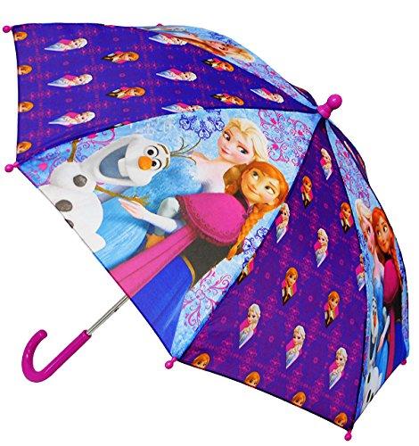 Unbekannt Regenschirm -  Disney die Eiskönigin - Frozen  - Kinderschirm - Ø 67 cm - Kinder - Kleiner Stockschirm - lila - Schirm Kinderregenschirm / Glockenschirm - f..