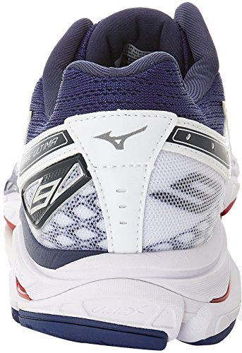 Mizuno Wave Ultima 9, Scarpe da Running Uomo Bianco (White/Safety Yellow/Blueprint)