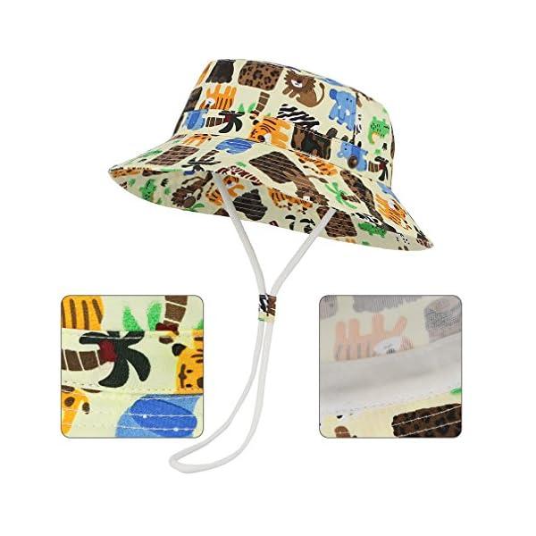 Cloud Kids Bob - Sombrero para bebé, unisex, algodón, protección contra rayos UV, verano, plegable, viaje 5