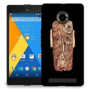 Snoogg Abstract Face Designer Protective Back Case Cover For MICROMAX YU YUPHORIA