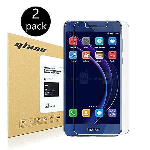 [2-Pack]Huawei Honor 8 Protecteur d'écran,HoPerain[verre trempé] Protection écran,Dureté 9H,Anti Scratch,Anti-empreintes digitales