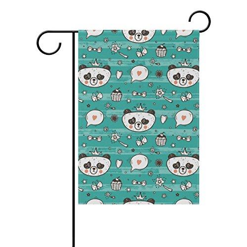 SUNOP Polyester-Gartenflagge süßes Baby Mädchen Panda Banner 30,5 x 45,7 cm für den Außenbereich Zuhause Garten Blumentopf Dekoration Party Supplies Hausflagge, Multi, 28x40(in)