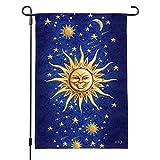 GRAPHICS & MORE Graphique et Plus céleste Suns Lune étoiles filantes Jardin Yard Drapeau avec Support de Poteau Support