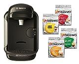 Bosch TASSIMO VIVY 2 Kapselmaschine + 4x T-Discs limitiert Heißgetränkeautomat Kaffeemaschine (Schwarz)