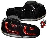 LED Rückleuchten schwarz Heckleuchten tiefschwarz RV39ALBS