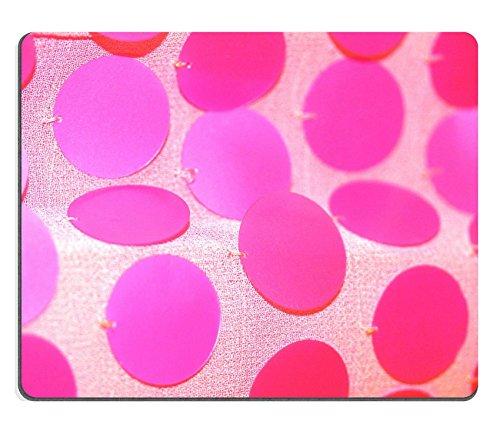 MSD-Tappetino per mouse in gomma naturale, gioco immagine ID 31473173 pagliette tagliate, colore: rosa con motivo a cerchi su sfondo astratto con trama closeup panno