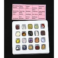 Natürliches Edelstein-Sammlungs-Set - 20 verschiedene Mineralproben CJ439 preisvergleich bei billige-tabletten.eu