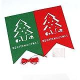 ODN drapeaux des décorations de Noël Noël bannière drapeau (pièce carrée usine)