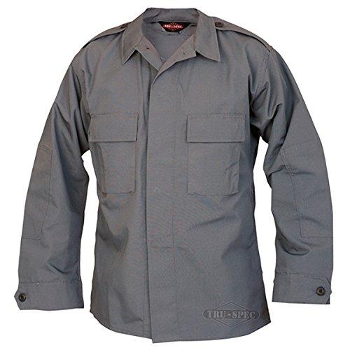 Tru-Spec Long-Sleeve Tactical Shirt Poly-Cotton Ripstop Charcoal M-Reg 1376004