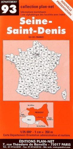 Carte routière : Seine-Saint-Denis par Cartes Ponchet