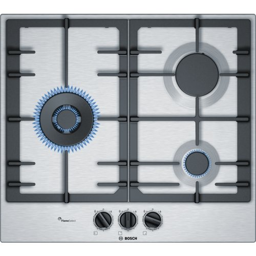 Bosch PCC6A5B90 Integrado Encimera de gas Acero inoxidable hobs - Placa (Integrado,...