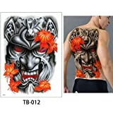 adgkitb 2 Pezzi Tattoo Sticker Petto Classico Totem Tiger Cool Decal TB-012 34x48cm