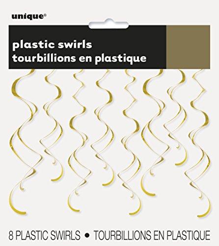 Kunststoff-Luftschlangen zum Aufhängen, Party-Dekorationen, 66 cm, ()