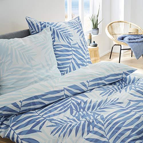 s.Oliver Renforcébettwäsche Bettwäsche, Baumwolle, blau,weiß, 155x220cm