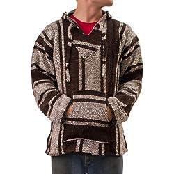 Poncho Jerga, unisex, marrón, talla XL (US)
