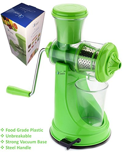 Vivir® Fruit And Vegetable Juicer With Steel Handle And Vacuum Base (green)