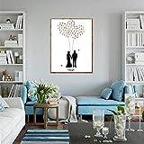 DIY Fingerabdruck Unterschrift Malerei Kreativ Hochzeit Luftballon Pflege Paar Party Party Leinwand,21x30cm