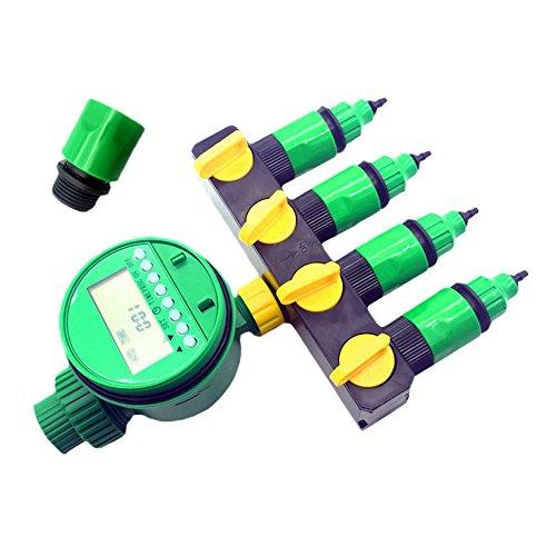 adhere to Fly Répartiteur 4 voies Tuyau d'arrosage Pour Tuyau connecteur, Tuyau Robinet avec eau Minuteur électronique