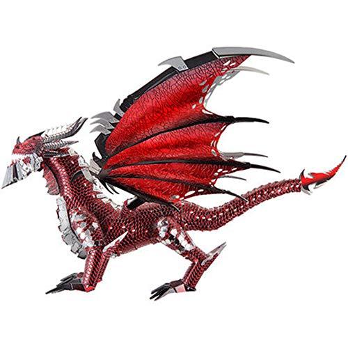 MQKZ 3D dreidimensionale Puzzle Metall Montage die Black Dragon Spiel Modell DIY schwierig manuell handgefertigte spielzeuge / Silber + Werkzeug a + b / one Size