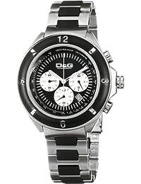 D&G Dolce&Gabbana DW0423 - Reloj cronógrafo de caballero de cuarzo con correa de varios materiales multicolor (cronómetro) - sumergible a 50 metros