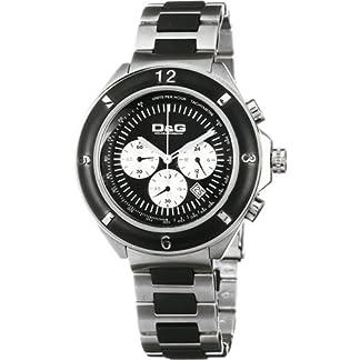 D&G Dolce&Gabbana DW0423 – Reloj cronógrafo de caballero de cuarzo con correa de varios materiales multicolor (cronómetro) – sumergible a 50 metros