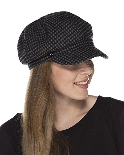 i-Smalls Women's Annie or Belle or Bramley Basket Weave Bakerboy Hat with Trim