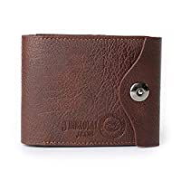 Short style Casual Designer Men's leather wallets with Man purse with coin pocket credit card holder