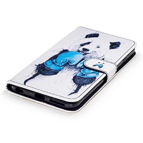 Custodia iPhone 6S plus Cover iPhone 6 plus,Ukayfe Flip Cover Wallet Case Custodia per iPhone 6S plus in pelle PU,iPhone 6 plus Lussuosa Astuccio Custodia Cover [PU Leather] [Shock-Absorption] Protett Panda 2#