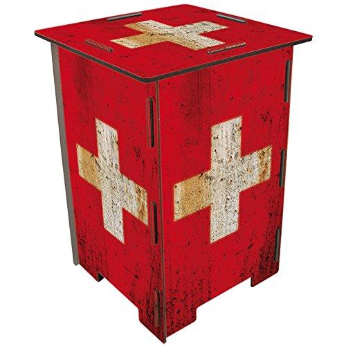 Photohocker Flagge Schweiz