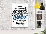 Wandgedanken Art-Print Für den absolut perfektesten Onkel, Farbe:weiss;Größe:DIN A4