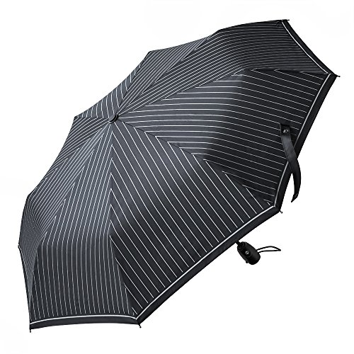 5371cc70e0 Ombrello automatico FREETOO Nero-Ombrello da viaggio pieghevole con  apertura e chiusura automatica per uomo e donna antivento