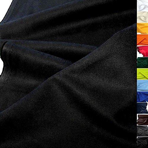 TOLKO weiches Wildleder Alcantara-Imitat als Polsterstoff Meterware | Abriebfester Mikrofaser Bezugstoff/Möbelstoff zum Polstern, Beziehen, Basteln und Dekorieren | 150cm breit (Schwarz) - Polyester Wildleder Stuhl
