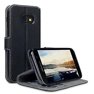 Samsung Galaxy A3 2017 Cover, Terrapin Cover di Pelle con Funzione di Appoggio Posteriore per Samsung Galaxy A3 2017 Custodia Pelle, Colore: Nero