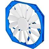 SilverStone SST-FW141 - Série FW Ventilateur PWM silencieux et mince de 120mm pour ordinateur, blanc-bleu