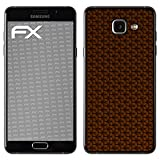 atFolix Skin kompatibel mit Samsung Galaxy A5 (2016), Designfolie Sticker (FX-Honeycomb-Brown), Waben-Struktur/Honigwabe