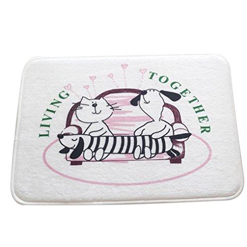 Yoyoug cartoon - tappetino 3d cartoon per camera da letto  con simpatico gatto stampato in 3d, per camera da letto, bagno, flanella, e, taglia unica