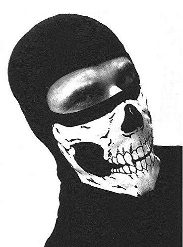 Pasamontañas 1agujero negro 100% algodón diseño