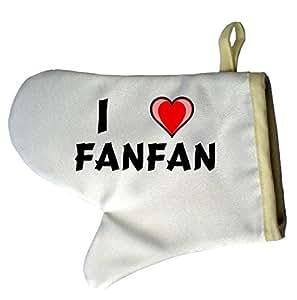 Gants de cuisine personnalisés (une paire) avec nom: Fanfan (Noms/Prénoms)