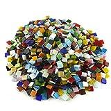 sinblue 500Stück gemischte Farbe Vitreous Mosaik Glas Mosaik Fliesen für DIY Handwerk und zu Hause, Dekoration, 4x 4Zoll, 300g
