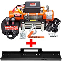 Torno de cable eléctrico 12V 4x 4/recuperación 13500LB Winchmax marca + placa de montaje Inc.